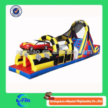 Coche barato inflable pista de obstáculos inflable bouncer