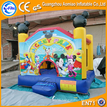 Golden inflatable bouncer factory supplier, Amazing mickey mouse inflatable bounce house