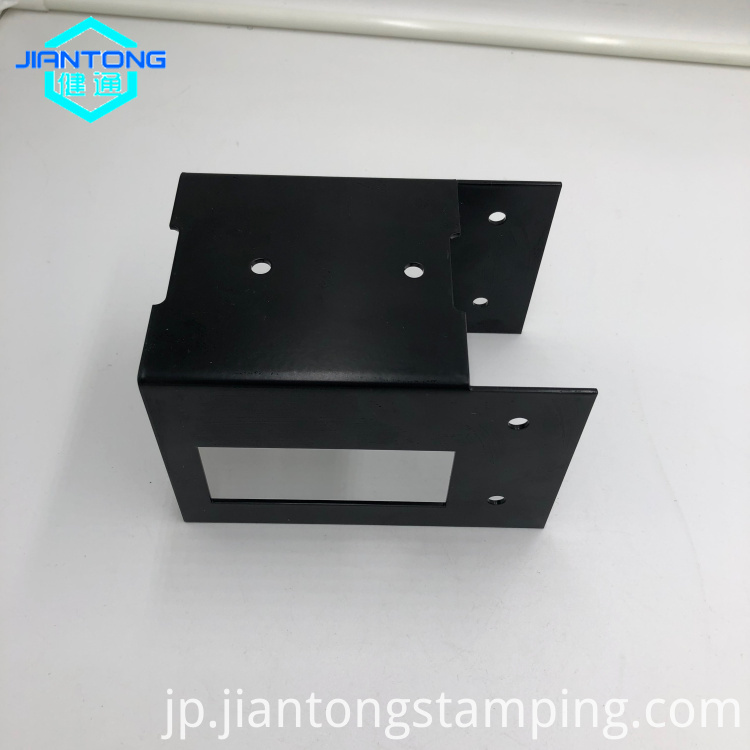 Custom Black Powder Coating Sheet Metal Stamping Parts (2)