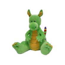 customized OEM design! green gift toy plush toy dragon