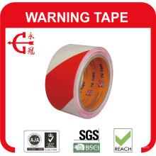 Cinta de advertencia de PVC con alta adherencia, excelente flexibilidad antiabrasión