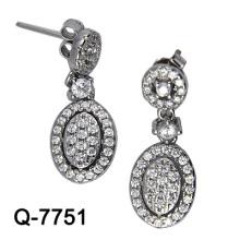 Новый дизайн 925 Серебряный моды серьги Имитация ювелирные изделия (Q-7751, JPG)