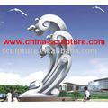 Escultura grande moderna moderna del acero inoxidable para la decoración del jardín