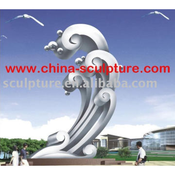 Large Modern Famous Stainless steel Sculpture for Garden decoration