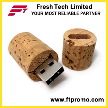 Cylinder Shape Bamboo&Wood USB Flash Drive (D831)