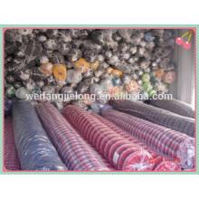 окрашенная пряжа хлопчатобумажная ткань для рубашки в вэйфан
