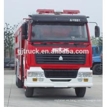Carro de fuego militar de Sinotruk HOWO / coche de bomberos / carro de la lucha contra el fuego / carro de fuego de la espuma / camión de bomberos del agua / carro de fuego del polvo