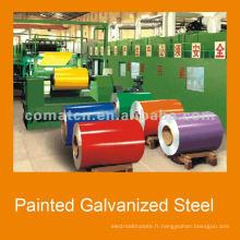 bobines d'acier galvanisés prélaqués PPGI