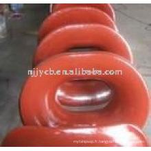 Tuyau d'amarrage en acier à coulée ovale