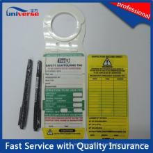 Construcción de OEM Etiqueta de seguridad Etiqueta de andamio para registro de inspección e instalación