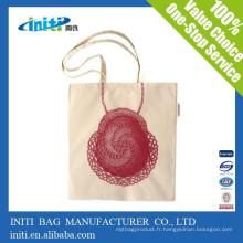 Sac d'emballage en coton recyclable de qualité personnalisé en Chine à bas prix
