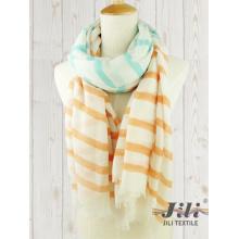 Señoras gasa larga bufanda de invierno las mujeres personalizados por mayor raya raya bufanda impresa