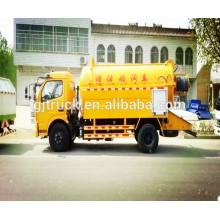 4X2 10CBM Dongfeng limpieza y camión de succión de aguas residuales / Sewge camión de chorro limpio / camión de transporte de aguas residuales / camión de succión de vacío / camión de alcantarillado
