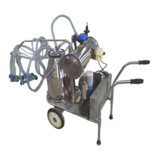 Stainless steel double single bucket portable goat cow milking machine