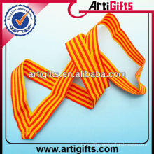 High quality polyester medal lanyard medal ribbon