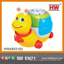 Brinquedo plástico do caracol plástico do bebê da alta qualidade