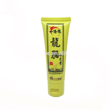 Hecho en China 60 ml tubo de plástico medicinal con tapa superior plegable