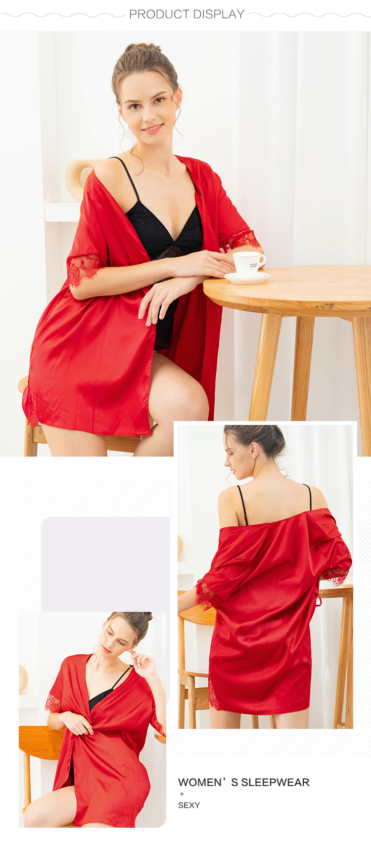 Women robe-product display