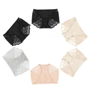 Calcinha de renda sexy para mulheres de seda sem costura