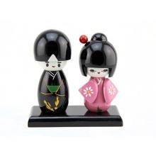 FQ marca artesanal meninas linda de madeira casamento japonês kokeshi boneca