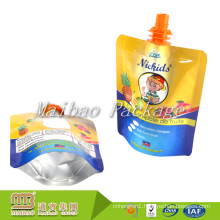 Custom Design Printed Reusable Plastic Flexible Standing Juice Spout Pouch for Liquid Packaging