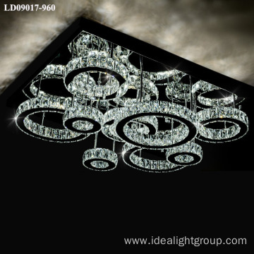 decorative lighting fixture crystal led light for hotel