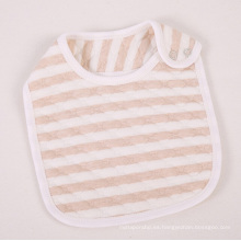 Babero de algodón con rayas de algodón orgánico