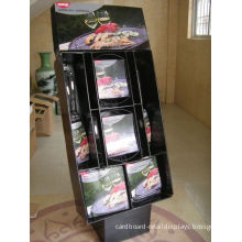 Green Glossy Cardboard Floor Stand Displays Pallet Shelf Showcases For Vegetable And Fruit