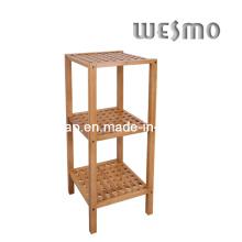 Rack de salle de bain en bambou carbonisé (WRW0503A)