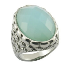 Fashion Mens Ring with Big Turquoise Stone