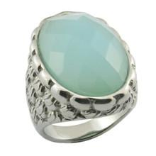Модное мужское кольцо с большим бирюзовым камнем
