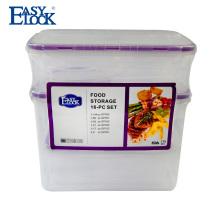Conjunto de contenedor de comida de plástico libre de BPA