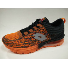 Black Orange Comfortable Air Cushion Sneaker for Male