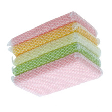 Kitchen dish washing mesh net scrubber sponge
