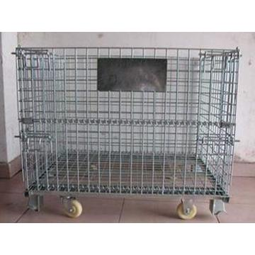 Foldable Wire Mesh Container Storage Cage