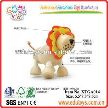 Manufacturers wooden lion toys in china