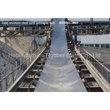 Correia transportadora do cabo de aço resistente ao frio