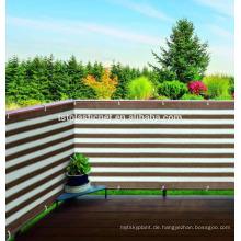 Anti-UVfarbstreifen-Balkon-Schatten-Netz, Plastikzaun-Filetarbeit im Freien