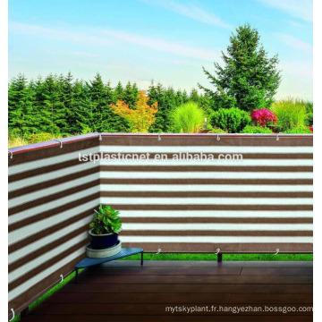 Fil antistatique UV d'ombre de balcon de bande de couleur, fabrication extérieure extérieure de barrière