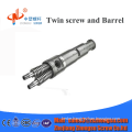 high quality twin conical screw barrel for 100% Caco3 PVC pipe in China