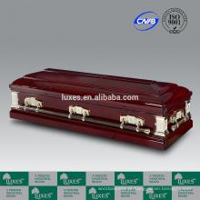 Goodwill de caixão de madeira vermelha LUXES fabricante de caixão