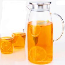 Grande capacidade de vidro bule de suco jugo caldeira de suco