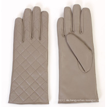 Dame Fashion Checked Pattern Leder Fahren Handschuhe (YKY5163)