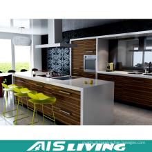 Mobília de armários de cozinha de nogais em madeira de melamina (AIS-K184)