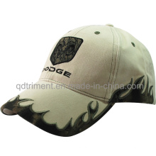 Outdoor Camo Flame Embroidery Cotton Twill Baseball Cap (TMB1922)