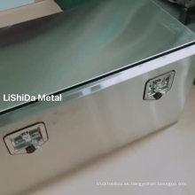 Cajas de herramientas de camiones de acero inoxidable SUS304 para puertas abatibles personalizadas con soportes de montaje para cajas de herramientas
