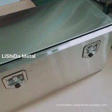 Custom SUS304 stainless steel drop down door underbody truck tool boxes with tool box mounting brackets