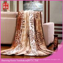 Diseño de árbol 100% poliéster franela mantas de lana