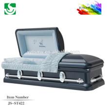 JS-ST422 wholesale best price gold china metal caskets