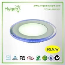 Shenzhen fábrica 2015 vendas quentes Rodada Azul + cor branca levou painel de luz 10w 15w 20w Dimmable Cor mudando preço luz painel leve